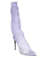 GCDS Net Boots - Lilac