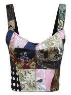 Dolce & Gabbana Rear Zipped Patched Top - Multicolor
