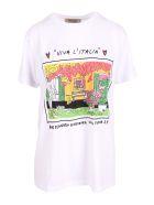 Alessandro Enriquez 'aess21 Print' Cotton T-shirt - White