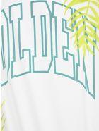 Golden Goose Golden Logo-print - WHITE