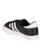 Y-3 Black And White Leather Yohji Star Sneakers - Nero e Bianco