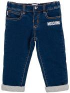 Moschino Blue Denim Jeans With Logo - Blu