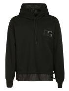 Dolce & Gabbana Chest Logo Layered Hoodie - Black