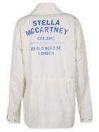 Stella McCartney Rear Logo Print 4 Pocket Oversize Shirt - Bianco
