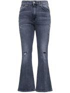 Mauro Grifoni Grey Denim Jeans With Flared Bottom - Grey