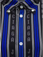 Balenciaga Striped Viscose L / S Large Shirt - Black