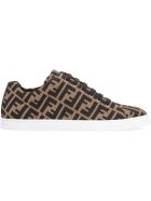 Fendi Knit Low-top Sneakers - brown