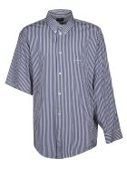 Balenciaga Asymmetric Sleeve Stripe Shirt - Bianco