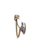 Alexander McQueen Single Earcuff Chain Skull Earring - Metallic