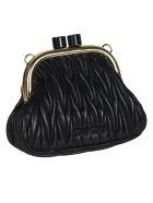 Miu Miu Matelassé Shoulder Bag - Black