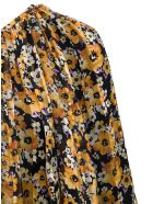 Saint Laurent Floral Silk Asymmetrical Dress - Multicolor