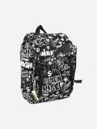 Golden Goose Nylon Backpack With All-over Contrasting Prints - Black, white