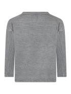 Bobo Choses Grey T-shirt For Kids With Logo - Grey