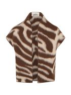 Douuod Brown Vest For Kids With Biege Details - Brown