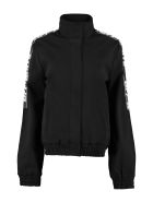 Off-White Athletic Logo Contrasting Stripes Full-zip Jacket - black