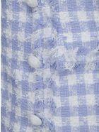Balmain Sleevelees Dress - Blanc/bleu pale