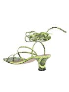 Paris Texas Fluo Yellow Leather Betty Sandals