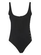 Moncler Cut-out Logo Bodysuit - Nero