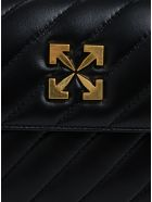 Off-White Jackhammer 24 Crossbody Bag In Quilted Leather - Black