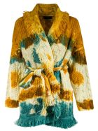 Alanui Mirage In The Desert T&d Cardi-coat - Blue/Brown/Cream