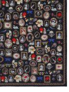 Alexander McQueen Cameo And Curiosities Wool Scarf - MULTICOLOR