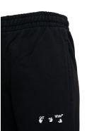 Off-White Black Cotton Jogger With Logo Print - Black