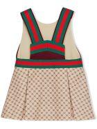 Gucci Baby Gg Technical Jersey Dress - Fant beige