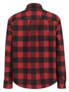 Woolrich Wool Blend Patchwork Shirt Jacket - Rosso