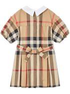 Burberry Archive Beige Cotton Check Dress - Check