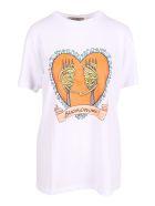 Alessandro Enriquez 'spaghetti Print' Cotton T-shirt - White