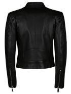 Dsquared2 Bow Detail Biker Jacket - Black