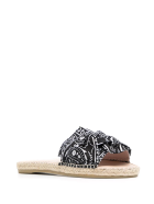 Manebi Woman Flat Sandals With Knot - Bandana - Black - Black bandana