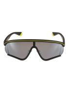 MSGM Polaroid Logo Sunglasses - Black/Yellow