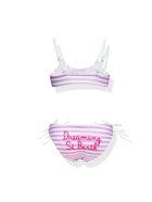 MC2 Saint Barth Embroided Writing  Girl's Bralette Stripes  Bikini
