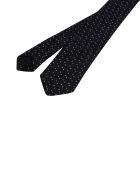 Saint Laurent Squared Tie - Black Ivory