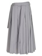 Prada Tie-waist Pleated Skirt - Ferro