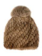 Max Mara Furry Beanie - Light Brown