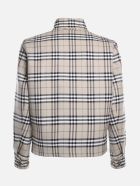Burberry Reversible Jacket With All-over Vintage Check Pattern - Soft pawn