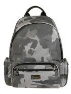 Dolce & Gabbana Camouflage Padded Backpack - Grey