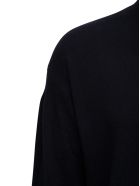 Z Zegna High Neck Black Wool Sweater - Black
