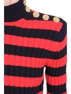 Balmain Knitwear In Black Wool - black