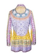Etro Woman Silk Shirt With Multicolored Foulard Print