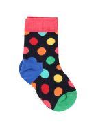 Happy Socks Blue Multicolor For Babygirl - Blue