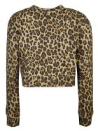 Valentino Cropped Length Logo Print Sweatshirt - Animalier