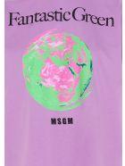 MSGM 'fantastic Green' Caspule Eco T-shirt - Purple