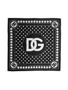 Dolce & Gabbana Scarf - Pois grande bco f ne