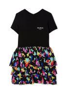 Balmain Black Cotton Dress - Multicolor