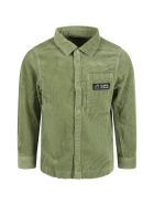 Scotch & Soda Green Shirt For Boy With Logo - Green
