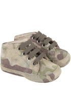 Gallucci Green Shoes For Baby Boy - Green