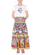 Dolce & Gabbana Flounce Skirt - MULTICOLOR